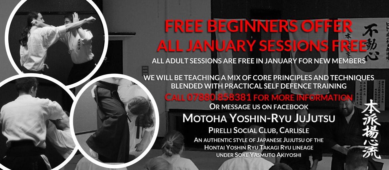 Free JuJutsu Martial Arts Classes in Carlisle